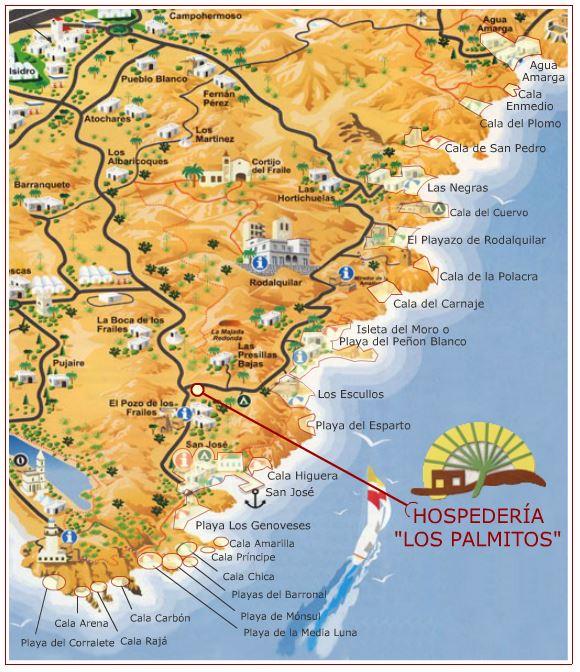 mapa de playas de almeria